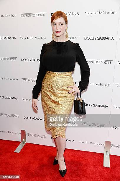 Actress Christina Hendricks attends the Magic In The Moonlight premiere at the Paris Theater on July 17 2014 in New York City