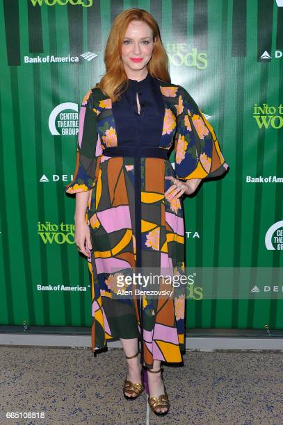 Actress Christina Hendricks attends the opening night of Fiasco Theater's production of 'Into The Woods' at Ahmanson Theatre on April 5 2017 in Los...