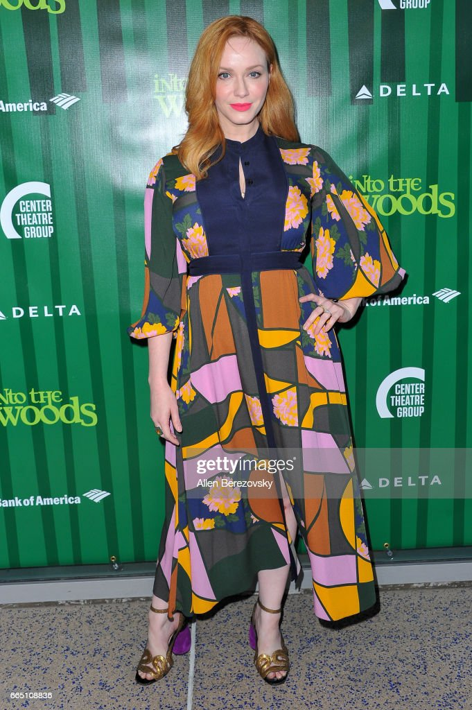 Actress Christina Hendricks attends the opening night of Fiasco Theater's production of 'Into The Woods' at Ahmanson Theatre on April 5, 2017 in Los Angeles, California.