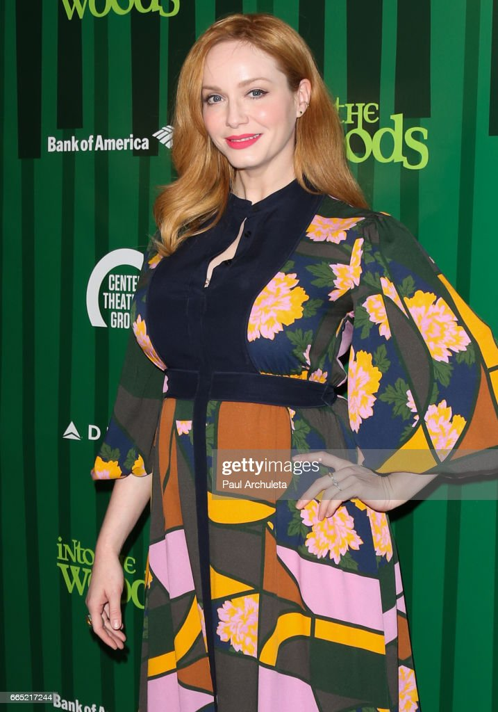Actress Christina Hendricks attends the opening night of 'Into The Woods' at Ahmanson Theatre on April 5, 2017 in Los Angeles, California.
