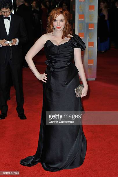 Actress Christina Hendricks attends the Orange British Academy Film Awards 2012 at the Royal Opera House on February 12 2012 in London England