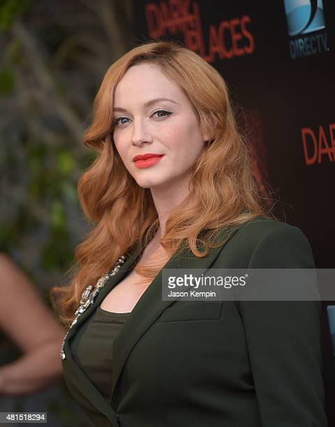 Actress Christina Hendricks attends the premiere of 'Dark Places' at Harmony Gold Theatre on July 21 2015 in Los Angeles California