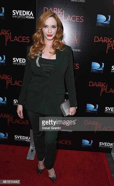 Actress Christina Hendricks attends the premiere of DIRECTV's Dark Places at Harmony Gold Theatre on July 21 2015 in Los Angeles California