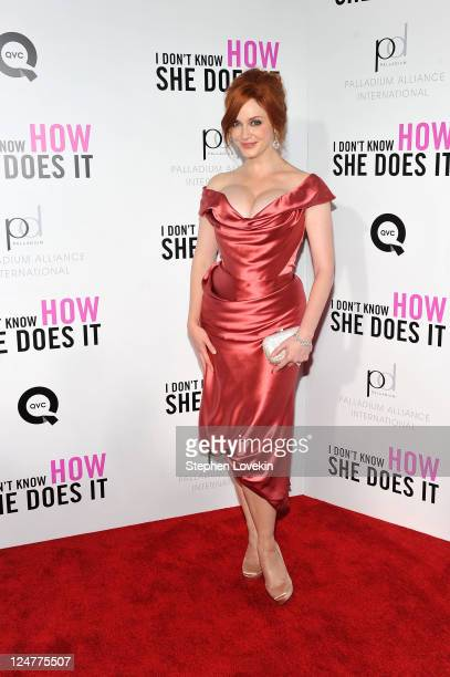 Actress Christina Hendricks attends the premiere of The Weinstein Company's I Don't Know How She Does It Premiere sponsored by QVC Palladium Jewelry...