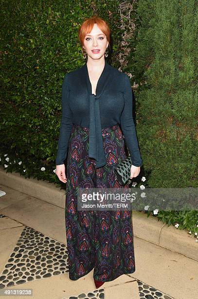 Actress Christina Hendricks attends The Rape Foundation's annual brunch at Greenacres The Private Estate of Ron Burkle on October 4 2015 in Beverly...