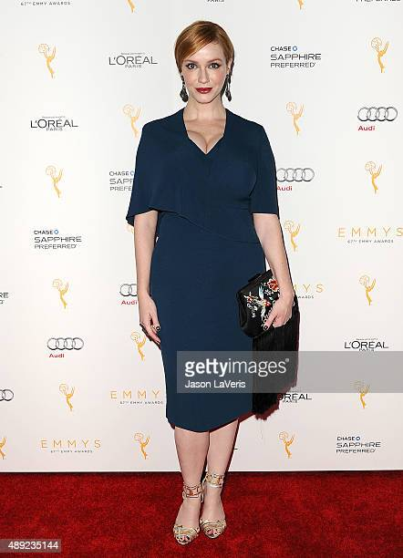 Actress Christina Hendricks attends the Television Academy's celebration for the 67th Emmy Award nominees for outstanding performances at Pacific...