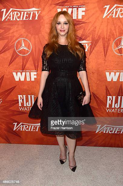 Actress Christina Hendricks attends the Variety and Women in Film Annual PreEmmy Celebration at Gracias Madre on September 18 2015 in West Hollywood...