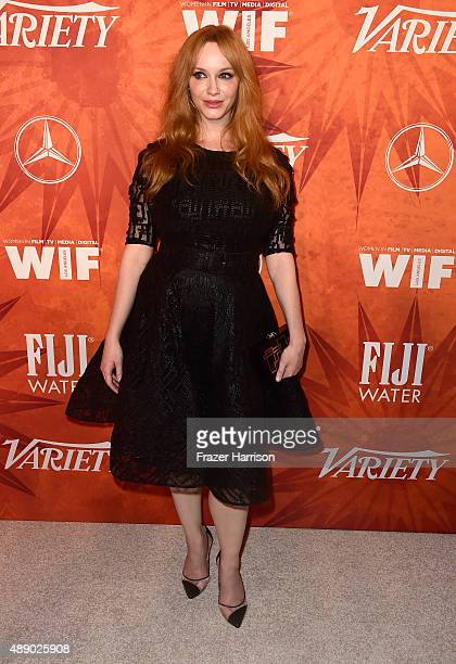 Actress Christina Hendricks attends the Variety and Women in Film Annual Pre-Emmy Celebration at Gracias Madre on September 18, 2015 in West...
