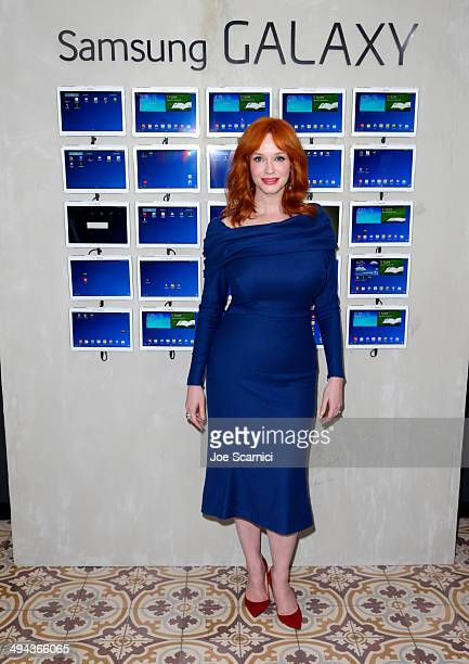 Actress Christina Hendricks attends the Variety Studio powered by Samsung Galaxy at Palihouse on May 29 2014 in West Hollywood California