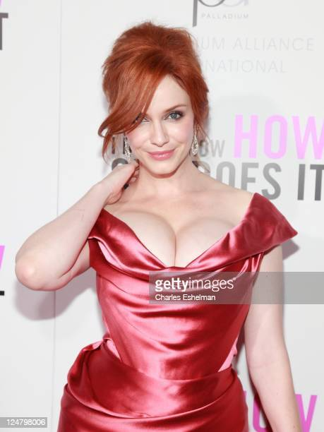 Actress Christina Hendricks attends The Weinstein Company The Cinema Society With QVC Palladium premiere of I Don't Know How She Does It at AMC Loews...