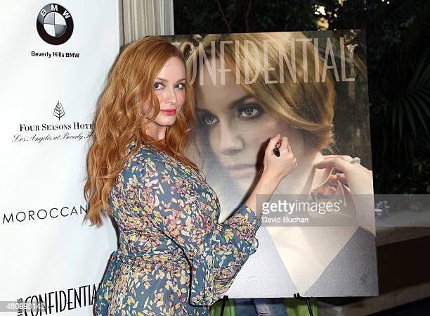 Actress Christina Hendricks attends the Women of Influence issue celebration presented by Los Angeles Confidential magazine at Four Seasons Hotel Los...