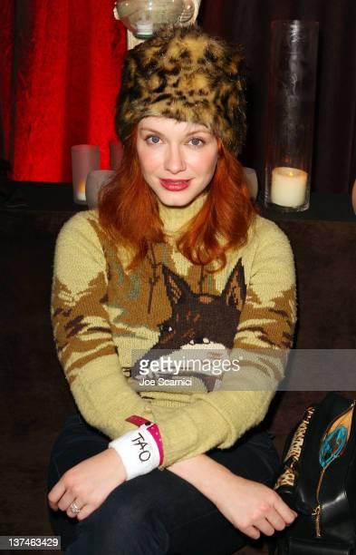 Actress Christina Hendricks attends TMobile presents Google Music at TAO a nightlife event at the Sundance Film Festival at TMobile Google Music...