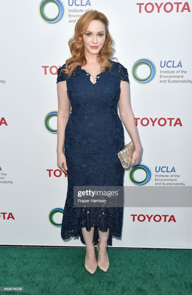 Actress Christina Hendricks attends UCLA Institute of the Environment and Sustainability celebrates Innovators For A Healthy Planet at a private residence on March 13, 2017 in Beverly Hills,California.