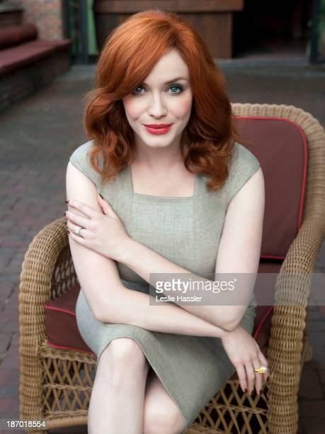 Actress Christina Hendricks is photographed for Self Assignment on September 12 2011 in New York City
