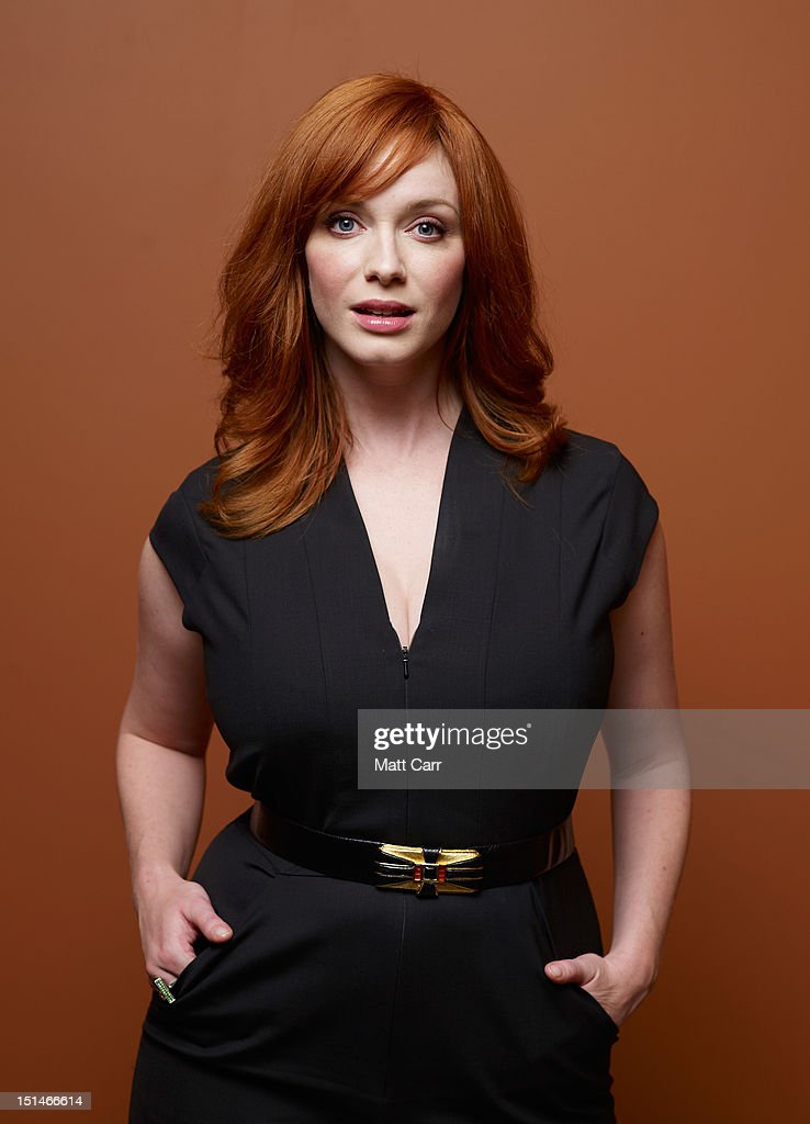 Actress Christina Hendricks of 'Ginger And Rosa' poses at the Guess Portrait Studio during 2012 Toronto International Film Festival on September 7, 2012 in Toronto, Canada.