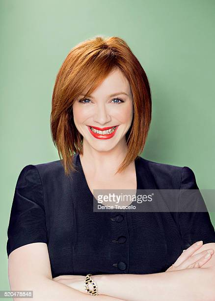 Actress Christina Hendricks poses for a portrait at the 2013 D23 Expo on August 6 2013 in Las Vegas Nevada