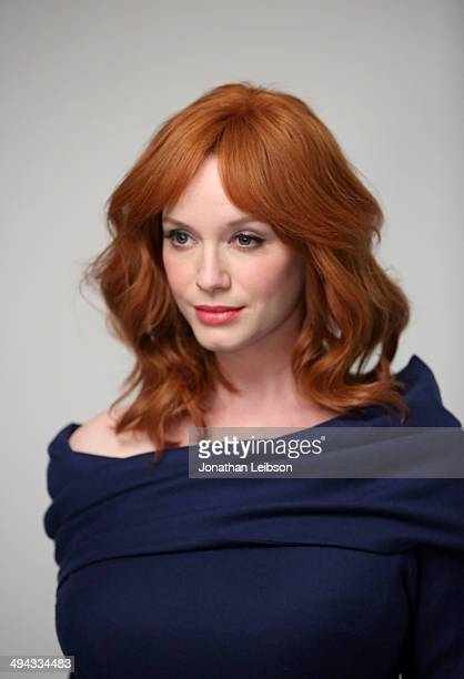 Actress Christina Hendricks poses for a portrait during the Variety Studio powered by Samsung Galaxy at Palihouse on May 29 2014 in West Hollywood...