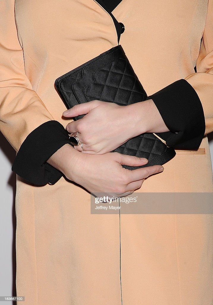 Actress Christina Hendricks (handbag, ring detail) the Tacori's Annual Club Tacori 2013 Event at Greystone Manor Supperclub on October 8, 2013 in West Hollywood,