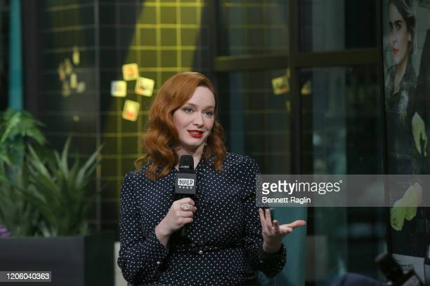 Actress Christina Hendricks visits Build at Build Studio on February 13 2020 in New York City