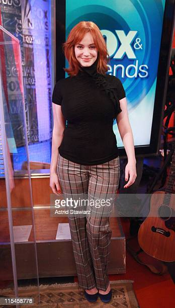 Actress Christina Hendricks visits FOX Friends at FOX Studios on June 7 2011 in New York City