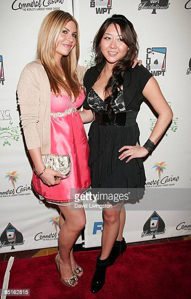 Actress Christina Lindley and professional poker player Maria Ho attends the 7th annual Celebrity World Poker Tournament at the Commerce Casino on...