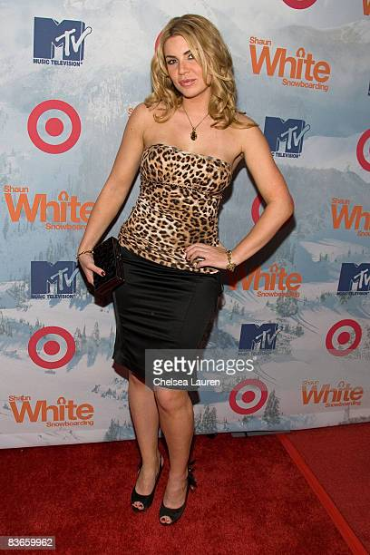 Actress Christina Lindley attends the Shaun White Snowboarding Video Game Launch Party at Boulevard3 on November 11 2008 in Hollywood California