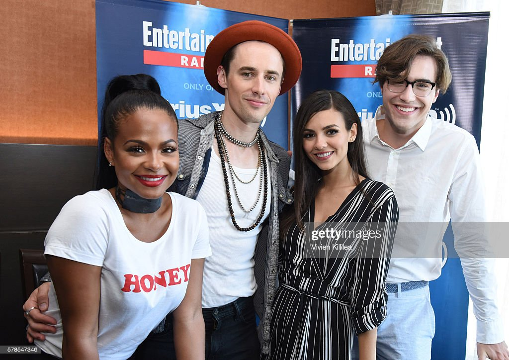 Actress Christina Milian, actor Reeve Carney, actress Victoria Justice and actor Ryan McCartan attend SiriusXM's Entertainment Weekly Radio Channel Broadcasts From Comic-Con 2016 at Hard Rock Hotel San Diego on July 21, 2016 in San Diego, California.