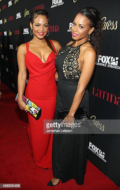 """Actress Christina Milian and Danielle Flores attend Latina Magazine's """"Hollywood Hot List"""" Party at Sunset Tower on October 2, 2014 in West..."""