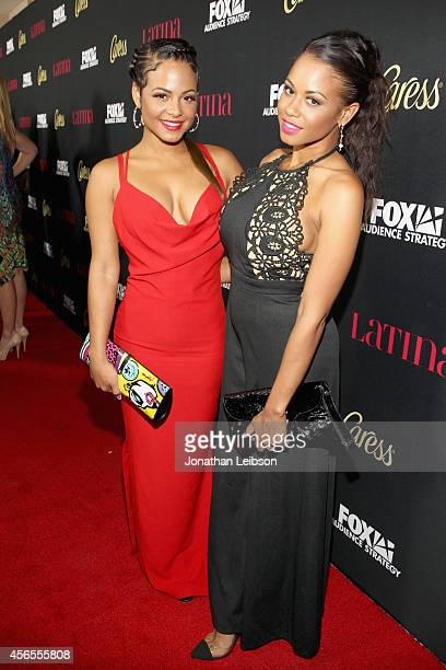 Actress Christina Milian and Danielle Flores attend Latina Magazine's Hollywood Hot List Party at Sunset Tower on October 2 2014 in West Hollywood...