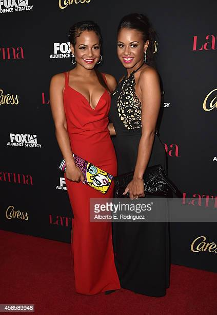 Actress Christina Milian and Danielle Flores attend LATINA Magazine's Hollywood Hot List party at the Sunset Tower Hotel on October 2 2014 in West...