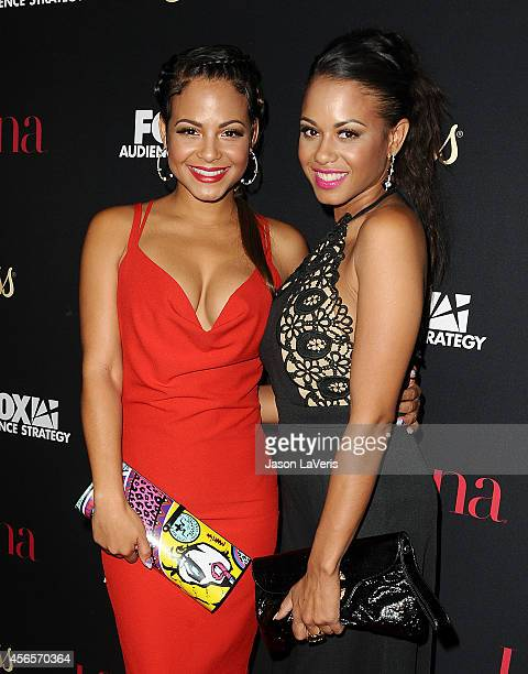 """Actress Christina Milian and sister Danielle Flores attend the Latina Magazine """"Hollywood Hot List"""" party at Sunset Tower Hotel on October 2, 2014 in..."""