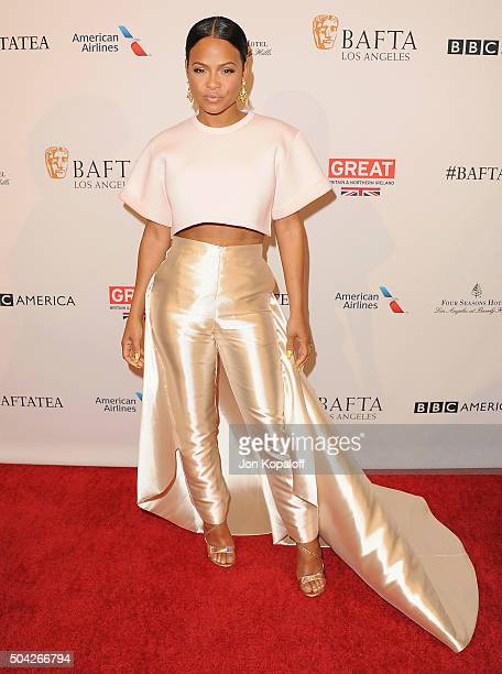 Actress Christina Milian arrives at BAFTA Los Angeles Awards Season Tea at Four Seasons Hotel Los Angeles at Beverly Hills on January 9 2016 in Los...
