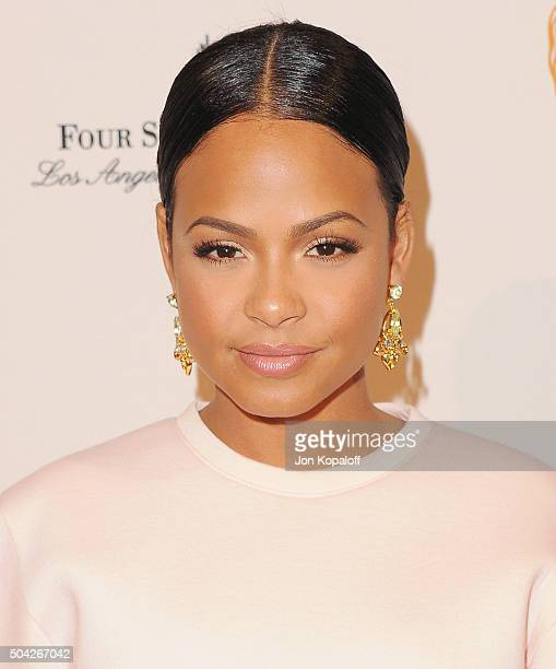 Actress Christina Milian arrives at BAFTA Los Angeles Awards Season Tea at Four Seasons Hotel Los Angeles at Beverly Hills on January 9 2016 in Los...