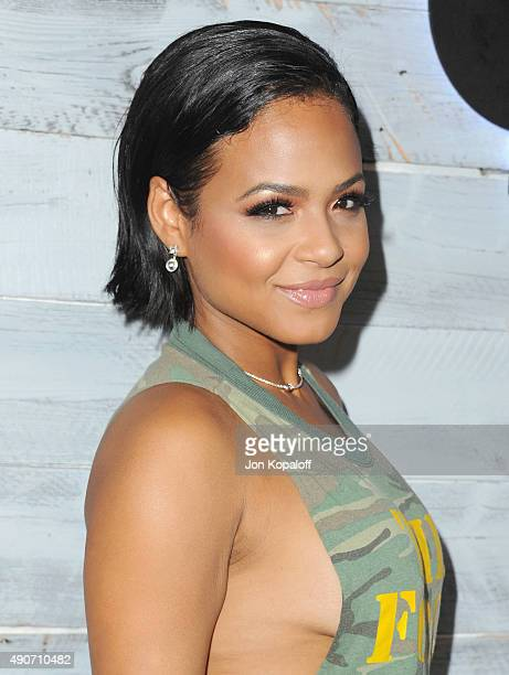 Actress Christina Milian arrives at go90 Sneak Peek at Wallis Annenberg Center for the Performing Arts on September 24, 2015 in Beverly Hills,...
