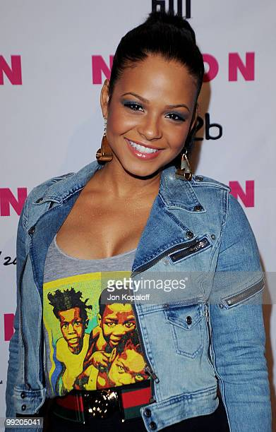 Actress Christina Milian arrives at NYLON Magazine's May Issue Young Hollywood Launch Party at The Roosevelt Hotel on May 12 2010 in Hollywood...