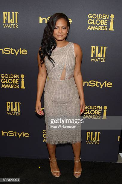 Actress Christina Milian arrives at the Hollywood Foreign Press Association and InStyle celebrate the 2017 Golden Globe Award Season at Catch LA on...
