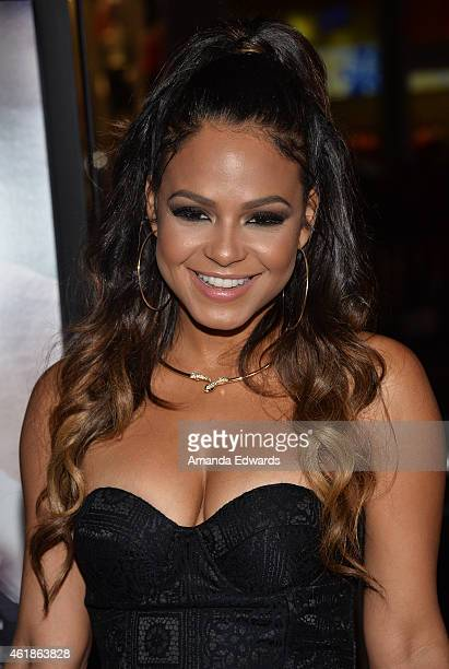 Actress Christina Milian arrives at the Los Angeles premiere of 'Manny' at the TCL Chinese Theatre on January 20 2015 in Hollywood California