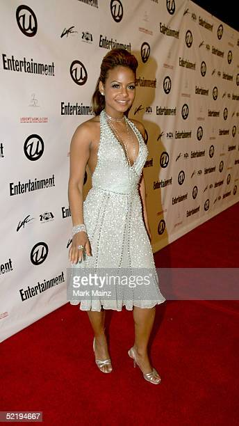 Actress Christina Milian arrives at Usher's Private Grammy Party hosted by Entertainment Weekly at Geisha House on February 13 2005 in Hollywood...