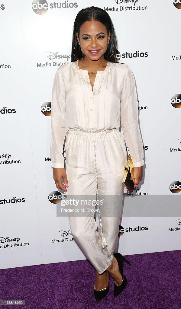 Actress Christina Milian attends Disney Media Disribution International Upfronts at Walt Disney Studios on May 17, 2015 in Burbank, California.