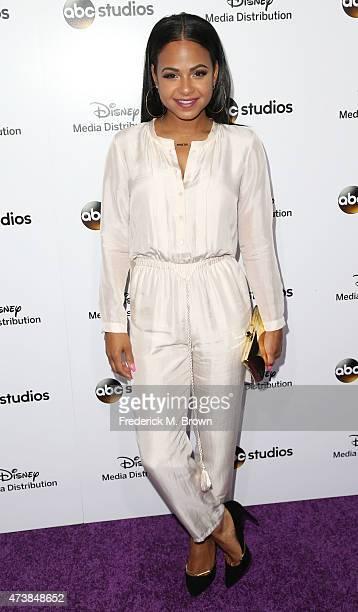 Actress Christina Milian attends Disney Media Disribution International Upfronts at Walt Disney Studios on May 17 2015 in Burbank California