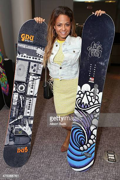 Actress Christina Milian attends Kari Feinstein's PreAcademy Awards Style Lounge at the Andaz West Hollywood on February 27 2014 in Los Angeles...