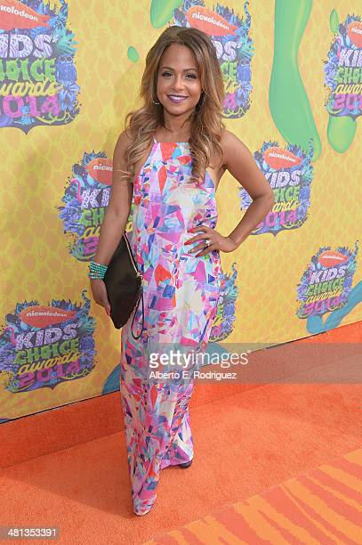Actress Christina Milian attends Nickelodeon's 27th Annual Kids' Choice Awards held at USC Galen Center on March 29 2014 in Los Angeles California