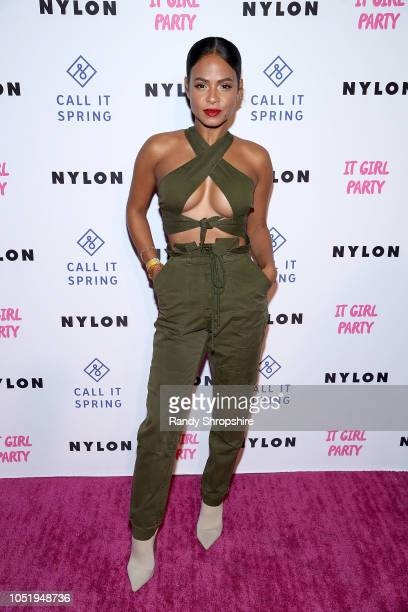 Actress Christina Milian attends NYLON's annual It Girl Party sponsored by Call It Spring at Ace Hotel on October 11 2018 in Los Angeles California