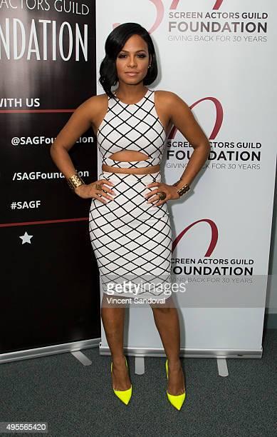 Actress Christina Milian attends SAG Foundation's 'Conversations' series screening of 'Grandfathered' at SAG Foundation Actors Center on November 3...