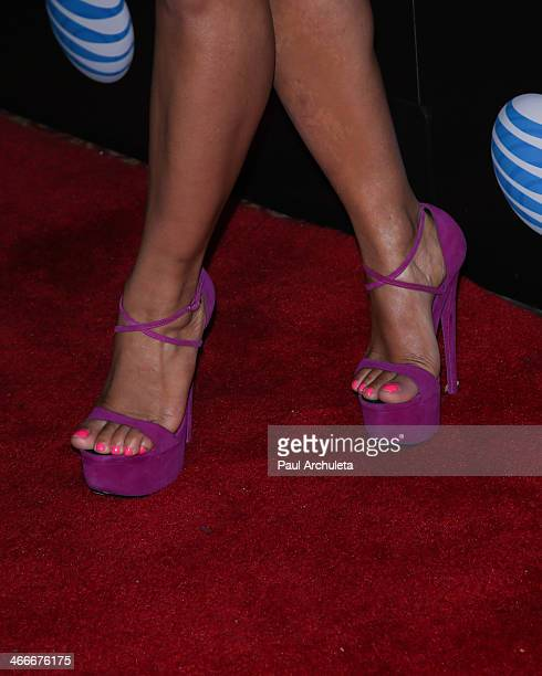 Actress Christina Milian attends the official launch party for Beats Music from Beats By Dr Dre at Belasco Theatre on January 24 2014 in Los Angeles...