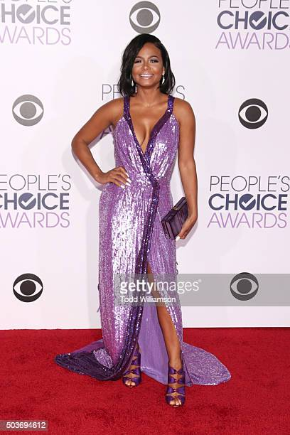 Actress Christina Milian attends the People's Choice Awards 2016 at Microsoft Theater on January 6 2016 in Los Angeles California