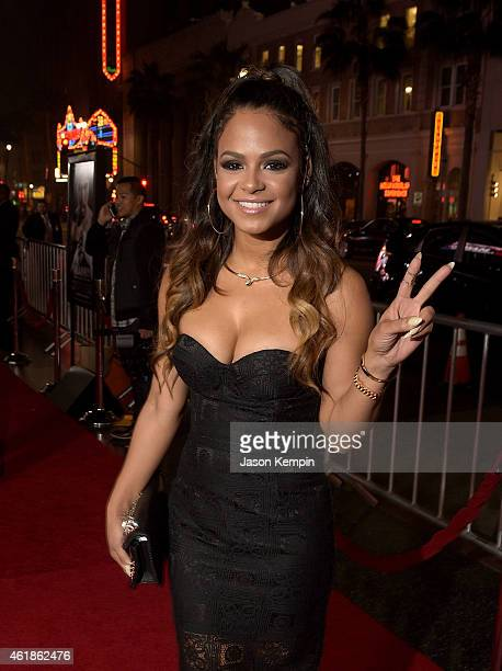 Actress Christina Milian attends the premiere of 'Manny' at TCL Chinese Theatre on January 20 2015 in Hollywood California
