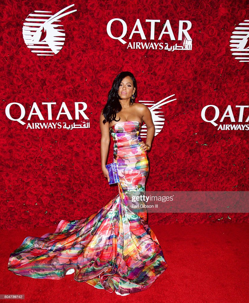 Actress Christina Milian attends the Qatar Airways Los Angeles Gala at Dolby Theatre on January 12, 2016 in Hollywood, California.