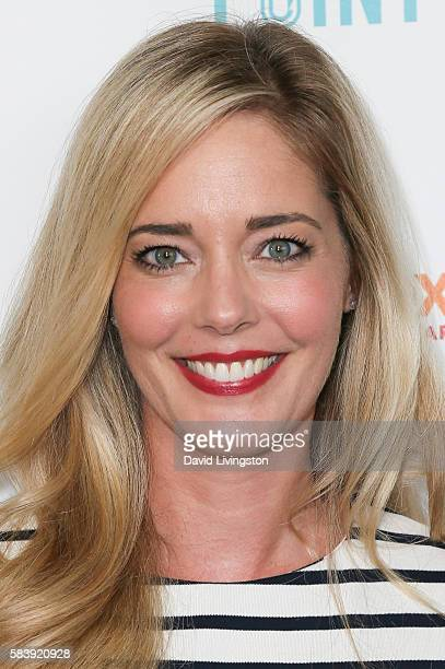 Actress Christina Moore arrives at Raising The Bar To End Parkinson's at Laurel Point on July 27 2016 in Studio City California