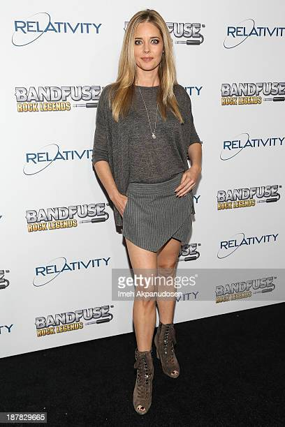 Actress Christina Moore attends the BandFuse Rock Legends video game launch event at House of Blues Sunset Strip on November 12 2013 in West...
